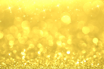 Luxury gold glitter with bokeh background, de-focused. concept for chrismas, holiday, happy new...