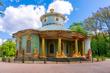 Potsdam, Germany - May 2019: Chinese House in Sanssouci Park