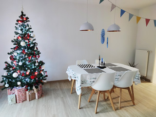 Photo of living room with christmas tree