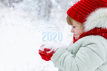 The concept new 2020 year .