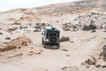 Overland adventure while driving a 4x4 in fuerteventura