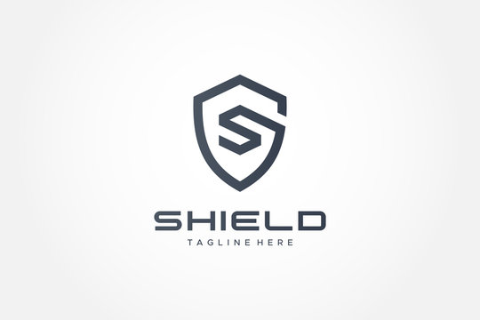 Shield Logo Vector Letter S Protection Security Logo Design Template Element