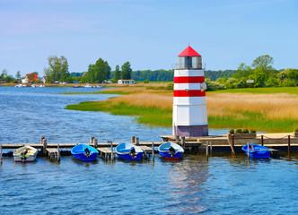 Insel Ummanz Leuchtturm in Deutschland - the lighthouse on island Ummanz, Ruegen