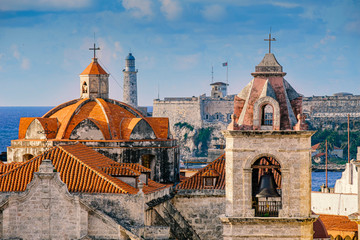 Canvas Prints Havana Top view havana cathedral