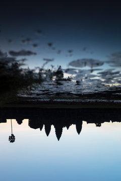 Reflection of Angkor Wat at Sunrise