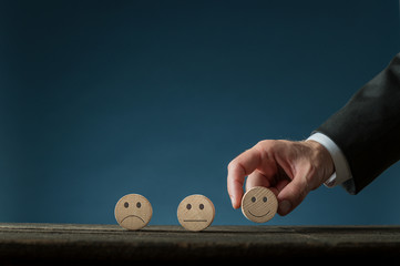 Conceptual image of business satisfaction