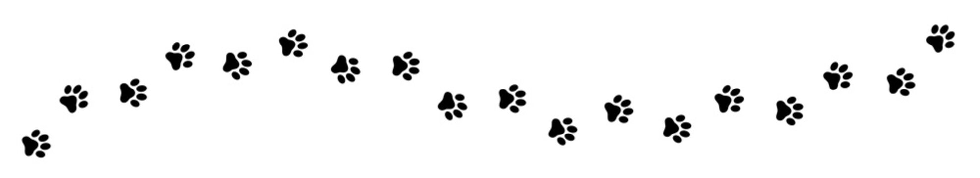 Paw print cat, dog, puppy pet trace. Flat style - stock vector.