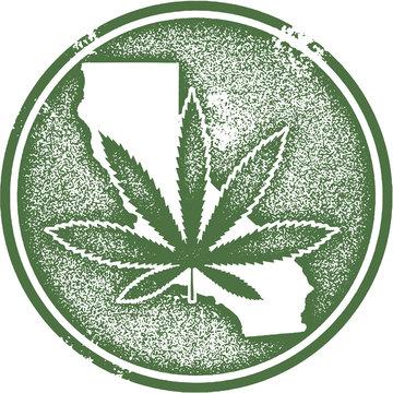 California State Marijuana Cannabis Rubber Stamp