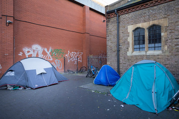 people living in tents on the street in Brighton in the 5th richest country in the world
