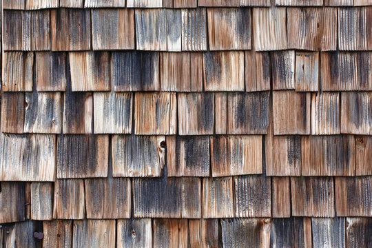 Full frame shot of wood shingles