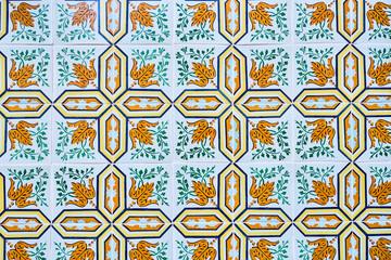 Portugal, Lisbon, Alfama, ceramic tiles?Azulejos?on wall