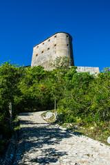 Low angle view of Citadelle Laferriere, Cap Haitien, Haiti, Caribbean