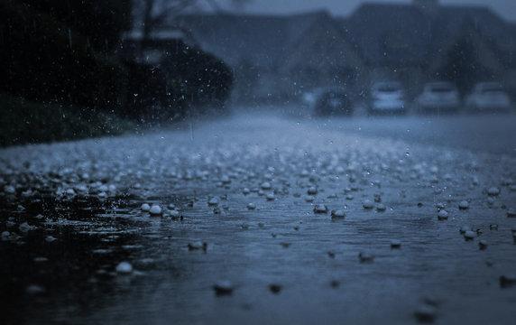 Raindrops and Hail