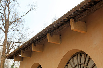 adobe house roof