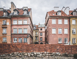 Panoramic view of the city Warsaw in Poland