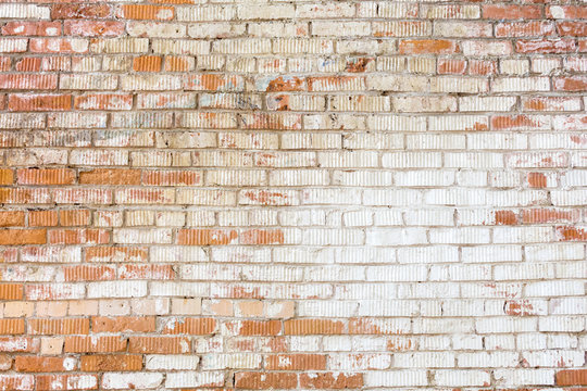 Horizontal background with old brick wall