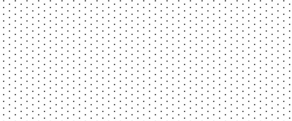 Dotted seamless pattern. Black repeat square dots on white background.