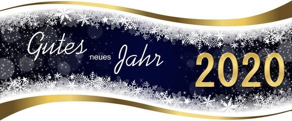 German Greeting Card Happy New Year 2020