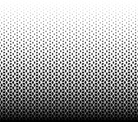Tuinposter Kunstmatig Geometric pattern of black diamonds on a white background.
