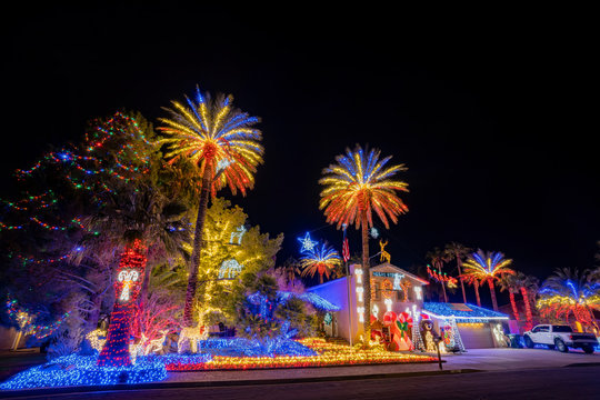 Christmas lights, decoration of a house