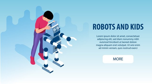 Robot Kids Education Banners