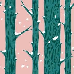 forêt d& 39 hiver. papier cadeau, décoration, modèle sans couture de style scandinave moderne