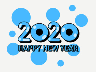 Cute New Year greeting text