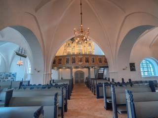 Traditional church in the center of Lemvig, Denmark