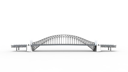 3d rendering of a a bridge isolated in a bright studio background Fotomurales