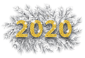 Frozen Twigs Snow Golden 2020