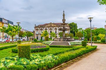View of Campo das Hortas park in Braga, Portugal
