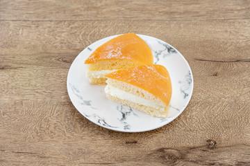 French dessert butter brioche Tarte tropezienne
