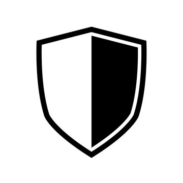 Vector Shield icon. Heraldic shields, security black labels. Knight award, medieval royal vintage badges isolated vector.