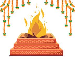 havan, hindu religion spiritual fire
