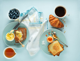 Breakfast continental meal