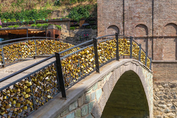 Arch bridge of lovers in Abanotubani district