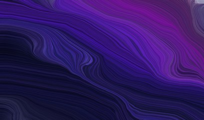 Foto auf AluDibond Fractal Wellen modern waves background illustration with very dark violet, very dark blue and dark slate blue color