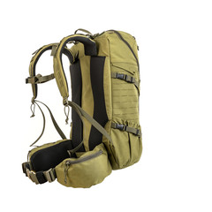 Backpack for hiking and hunting. Green design suitable for the forest.