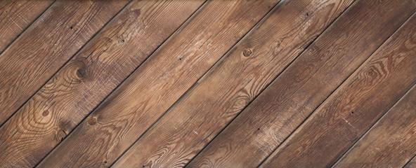 old brown weathered wooden floor diagonally Fototapete