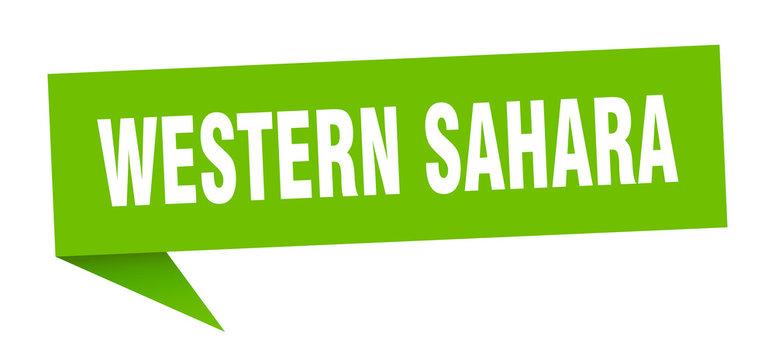 Western Sahara sticker. Green Western Sahara signpost pointer sign