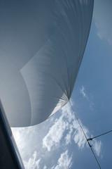 Fotobehang Zeilen Sailing. Saling boat. Superyacht. Palma Cup. Palma de Mallorca. Spain. Mediterranean Sea