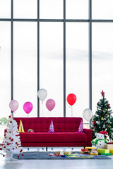 Living room christmas new year