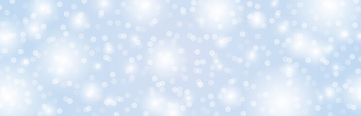 Wall Mural - Grey background with circles bokeh.  Merry Christmas and Happy New Year greeting banner. Horizontal holiday background, headers, posters, cards, website.Vector illustration