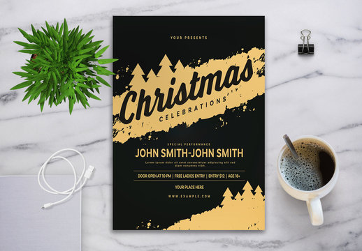 Christmas Celebrations Flyer Layout