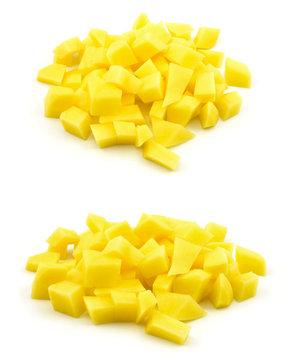 surowe ziemniaki krojone w kostkę