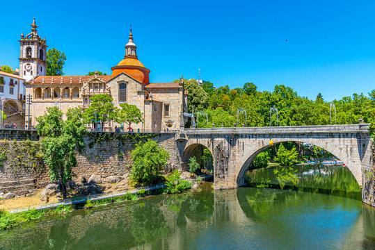 Cityscape of Amarante in Portugal