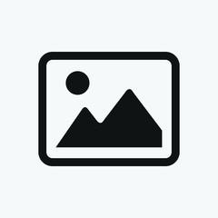 Picture icon, photo symbol vector illustration