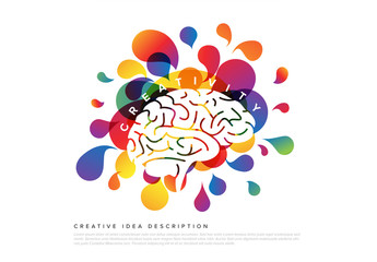 Colorful Creativity Infographic with Brain Illustration