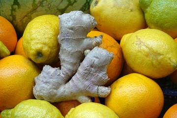 Ingwer und Zitronen