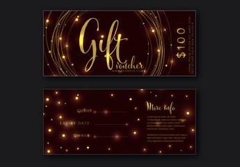Gift Voucher Card Layout